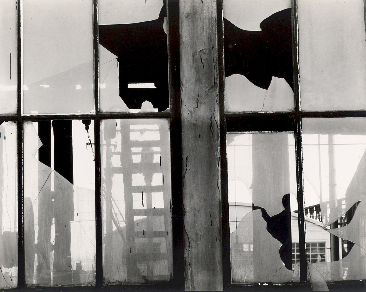 Brett Weston, Storefront, San Francisco (Broken Window) 1959/60