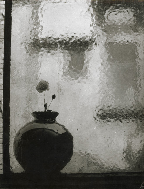 Antonin Gribovsky, Vase in the Window, Silver print, 9-3/8 x 7 in, 1950s/1950s