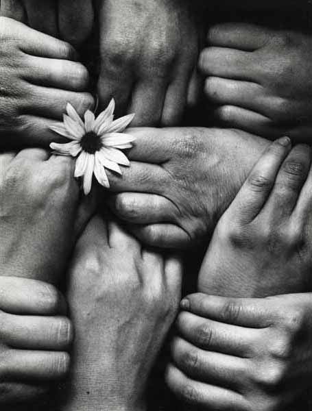 Michel Joly, Hands and Flower, Fleur aux Poings, 1972, Catherine Couturier Gallery