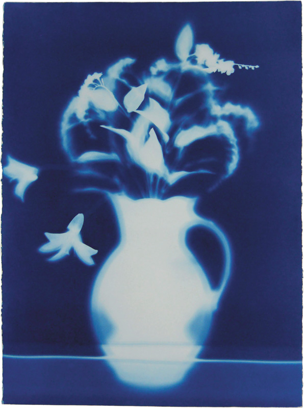 Pamela Ellis Hawkes, Floral Arrangement #7, Cyanotype, 30 x 22-3/8 in, 2011/201