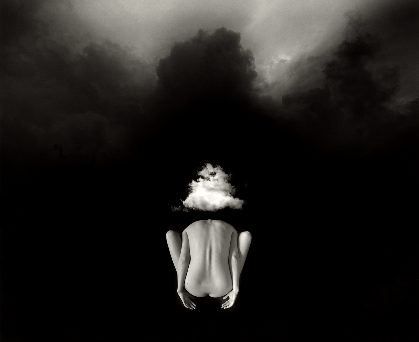 Jerry Uelsmann Untitled Nude Back 2011