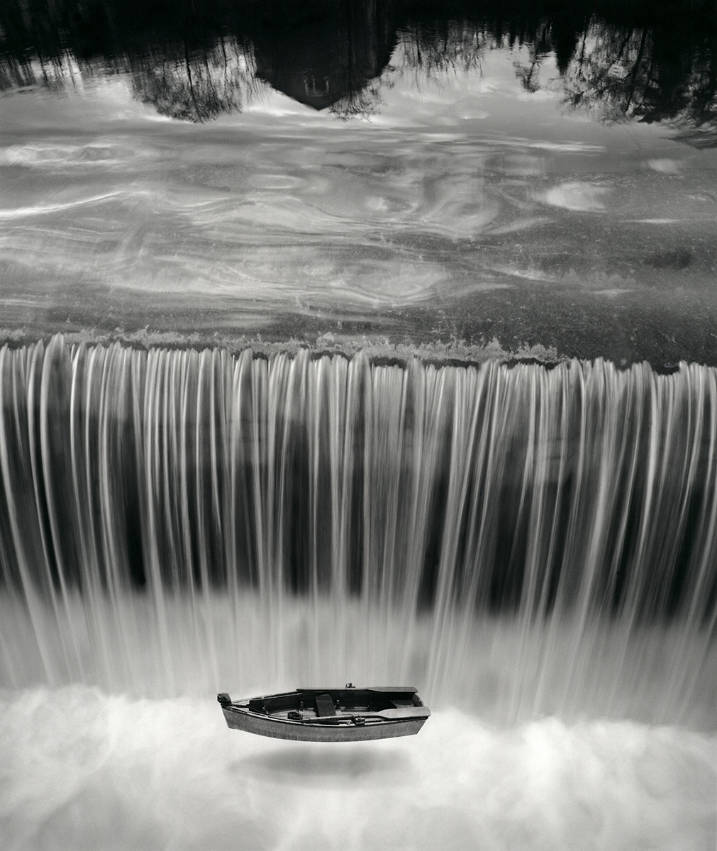 Jerry Uelsmann Untitled Boat and Waterfall Catherine Couturier Gallery