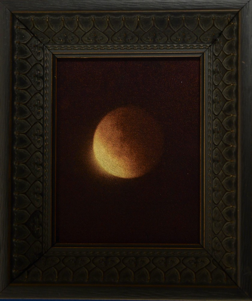 Kate Breakey, Lunar Eclipse I Sept 2015 airplane window