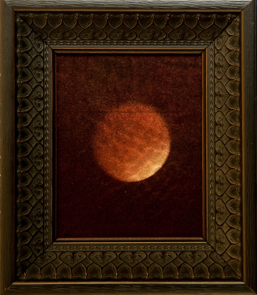 Kate Breakey, Lunar Eclipse II Sept 2015 airplane window