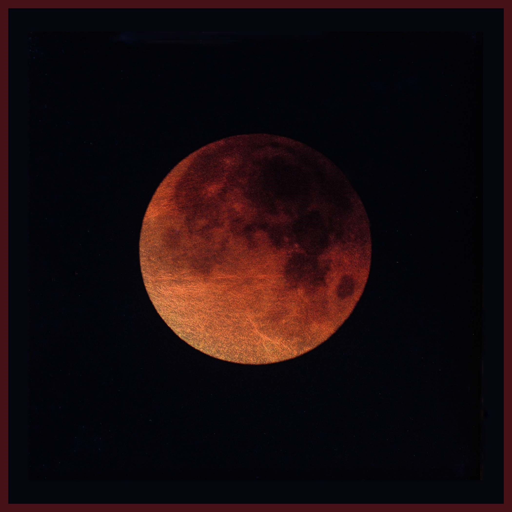 Kate Breakey, Lunar Eclipse Jan 2018 Tucson Az (Blood moon