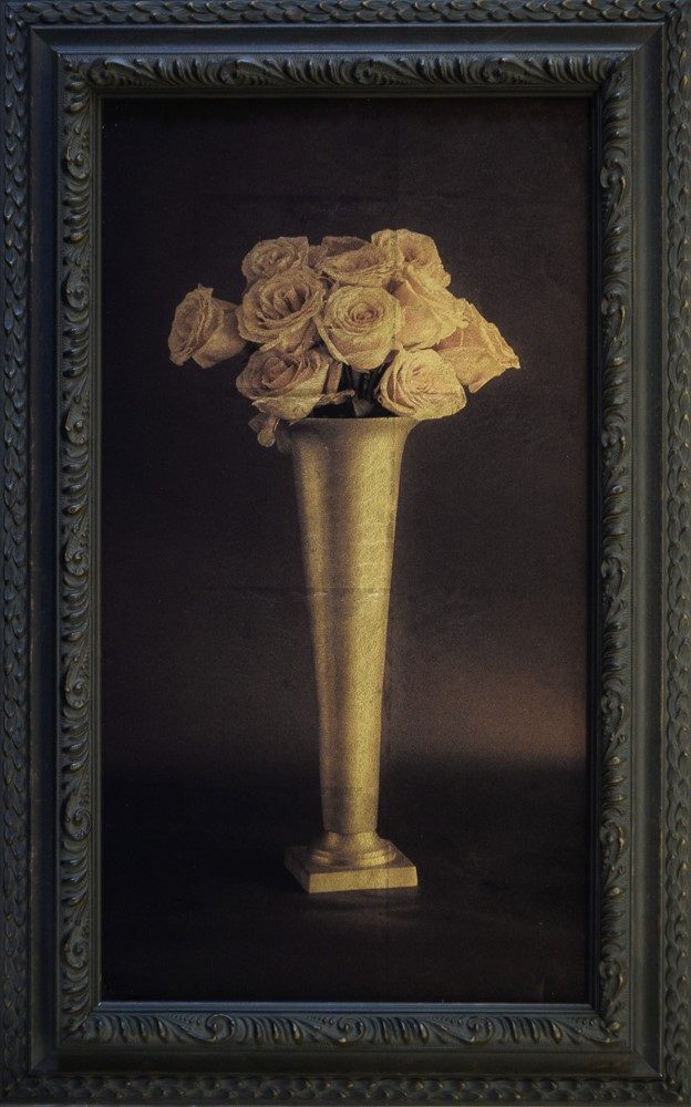 Kate Breakey, Tall Vase of Roses