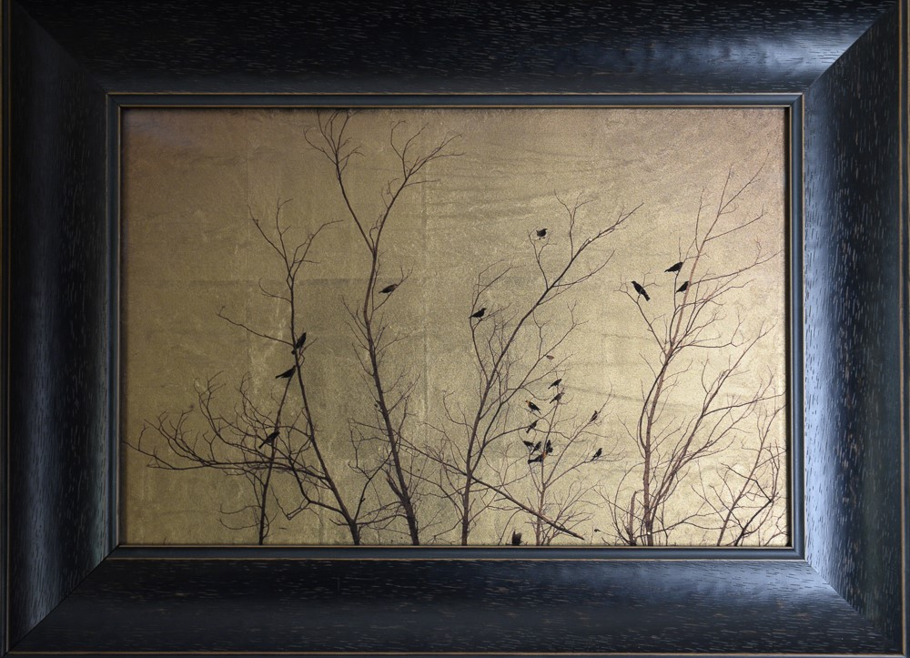 Kate Breakey, Twenty Two Birds in Bare Tree, New Mexico