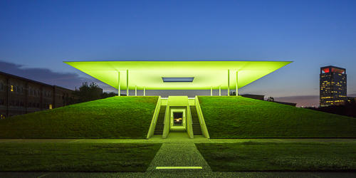 Mabry Campbell, James Turrell, Skyspace Twilight Epiphany, Green