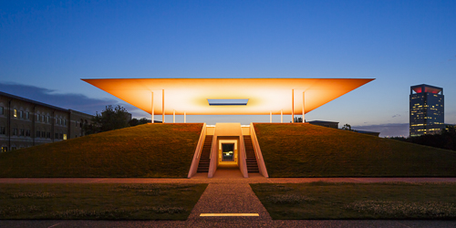 Mabry_Campbell, James Turrell Skyspace, Twilight Epiphany, Orange