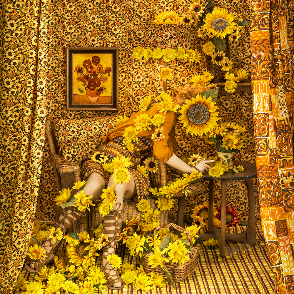 Patty Carroll, Sunflower Girl, Catherine Couturier Gallery