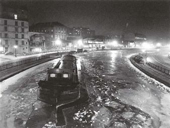 La Canal St. Martin l'Hiver, Robert Doisneau, 1954, Catherine Couturier Gallery