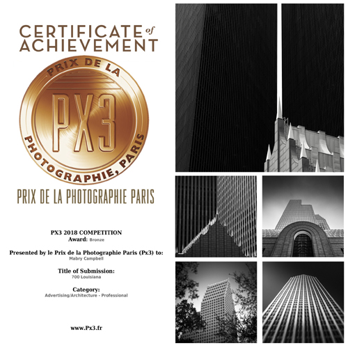 Mabry Campbell Bronze Winner PX3 Prix De La Photographie Paris