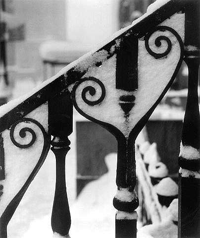 Wrought Iron with Snow