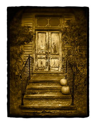 Dan Burkholder - Pumpkins on Church Steps
