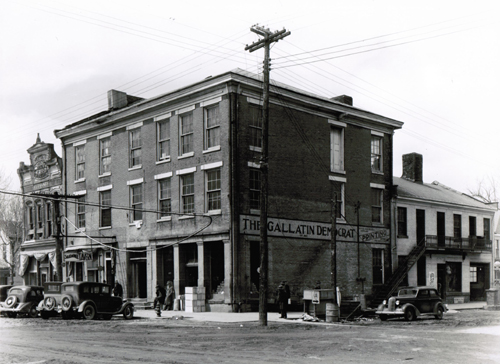 Russell Lee, Old Grocery Building and the Posey Building Where Abraham Lincoln and April Robert Ingersoll had Law Offices, Shawneetown, IL 1937