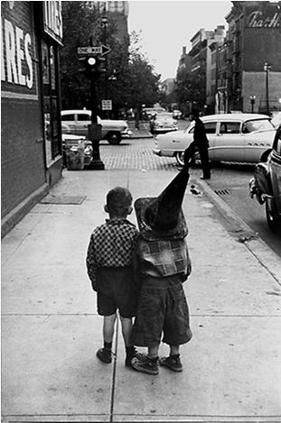 George Zimbel - Boys in Hats, 25th Street, NYC, 1955