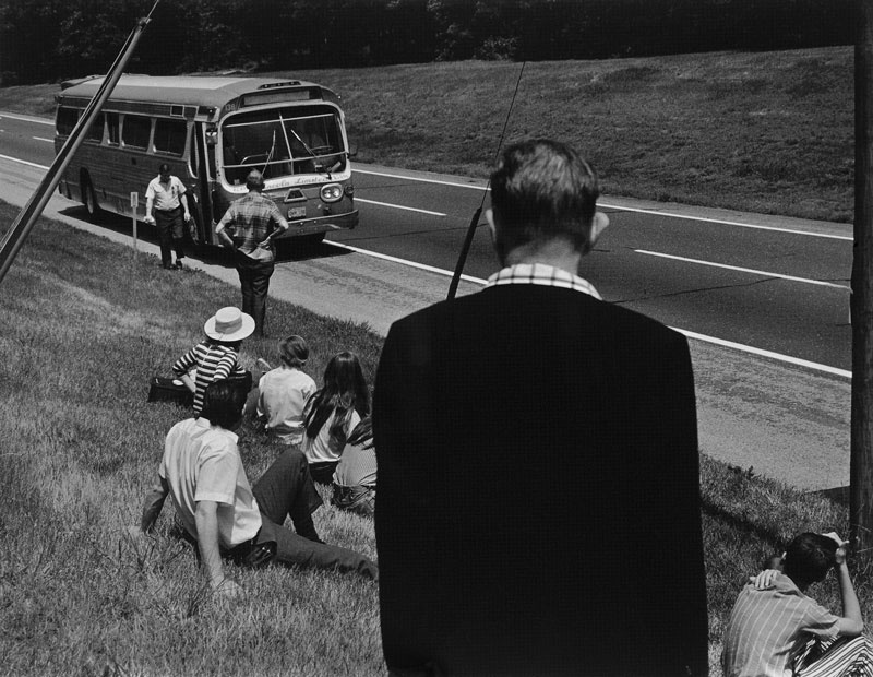 Catherine Couturier Gallery Ida Wyman Breakdown on the Jersey Pike, New Jersey, ca. 1970