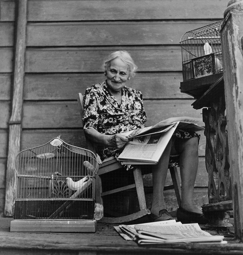 Catherine Couturier Gallery Ida Wyman Woman With Pet Birds, Los Angeles, 1949