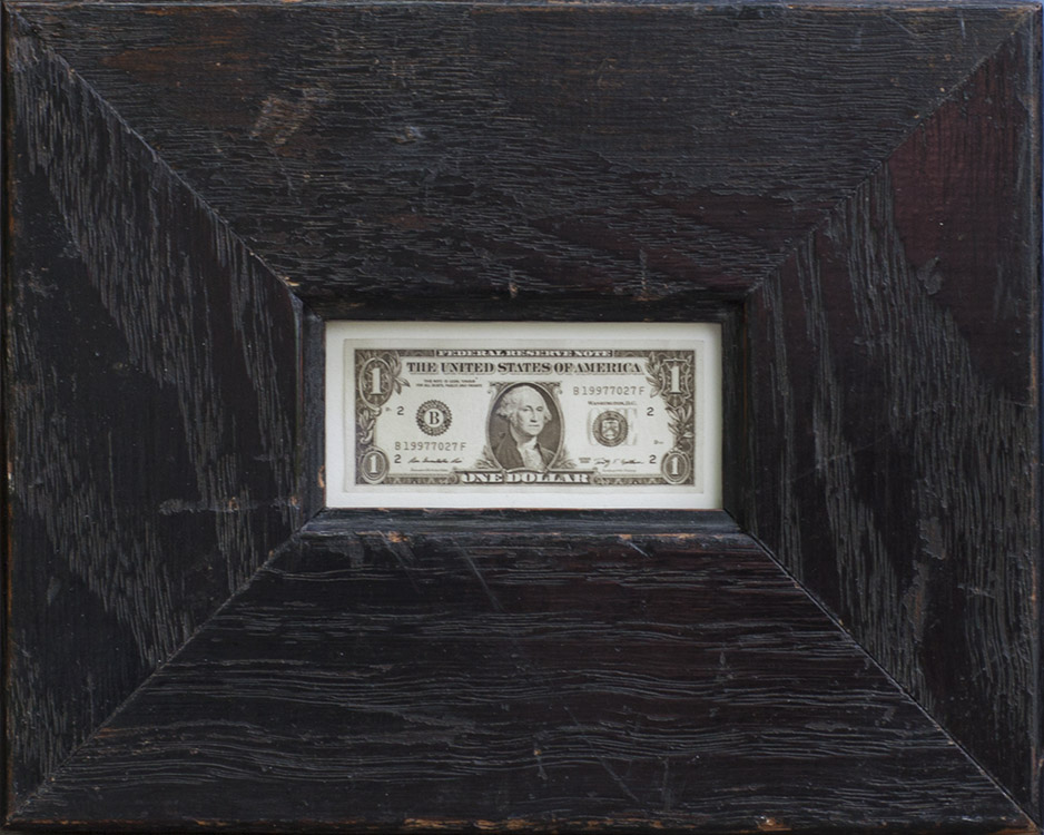 One Dollar, Jefferson Hayman, Catherine Couturier Gallery