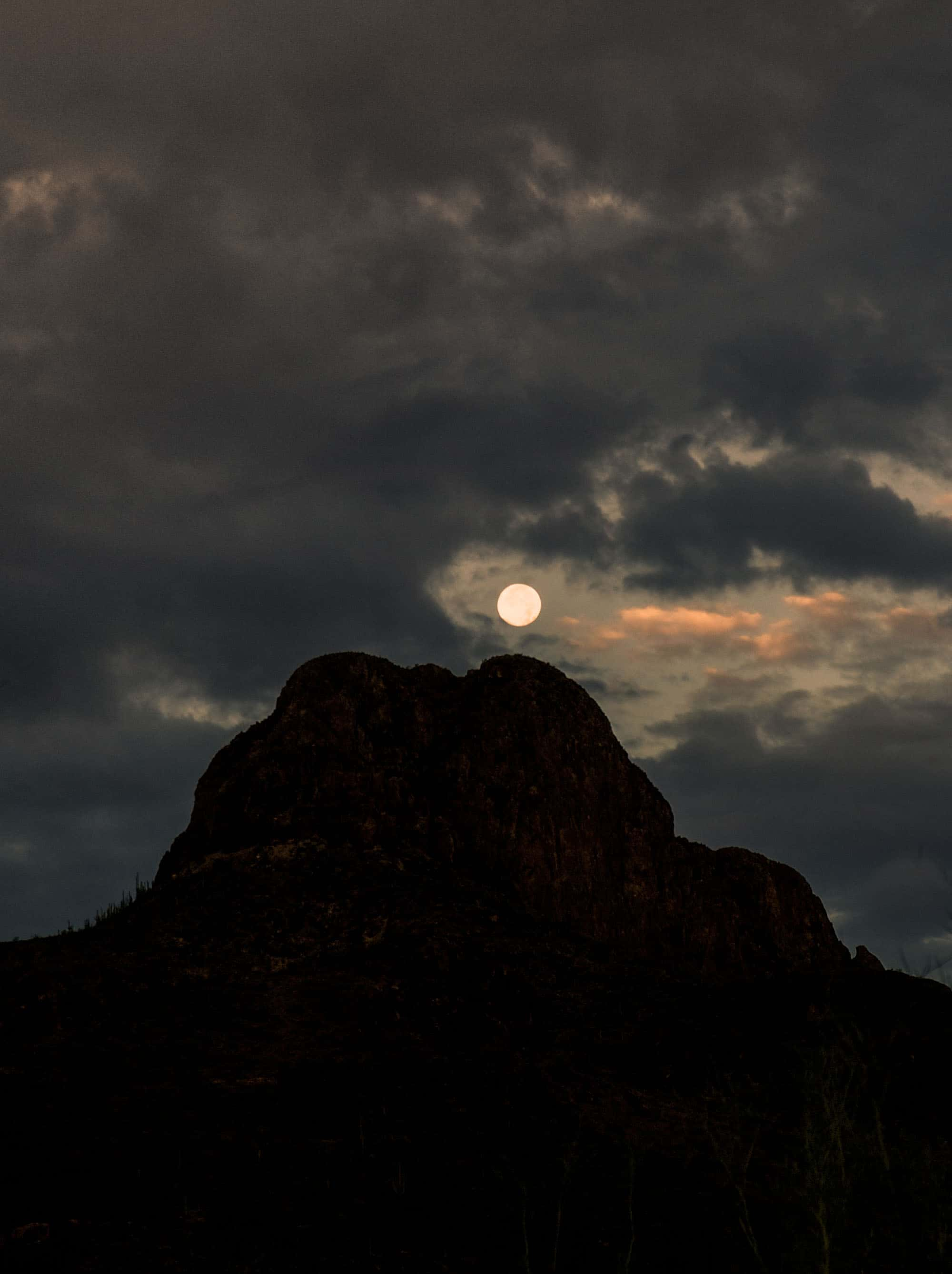 Full Moon Setting Over Safford Peak, Kate Breakey, Catherine Couturier Gallery