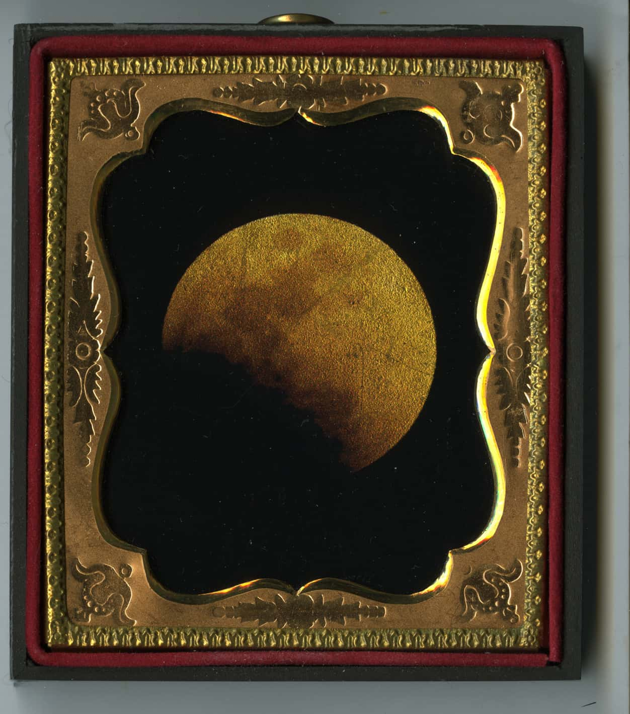 Lunar Eclipse, Feb 2008, daguerreotype framed, Kate Breakey, Catherine Couturier Gallery