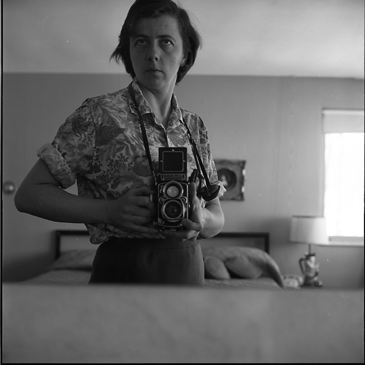 Vivian Maier, Self-Portrait, Bedroom Mirror, Highland Park, IL, January 1965