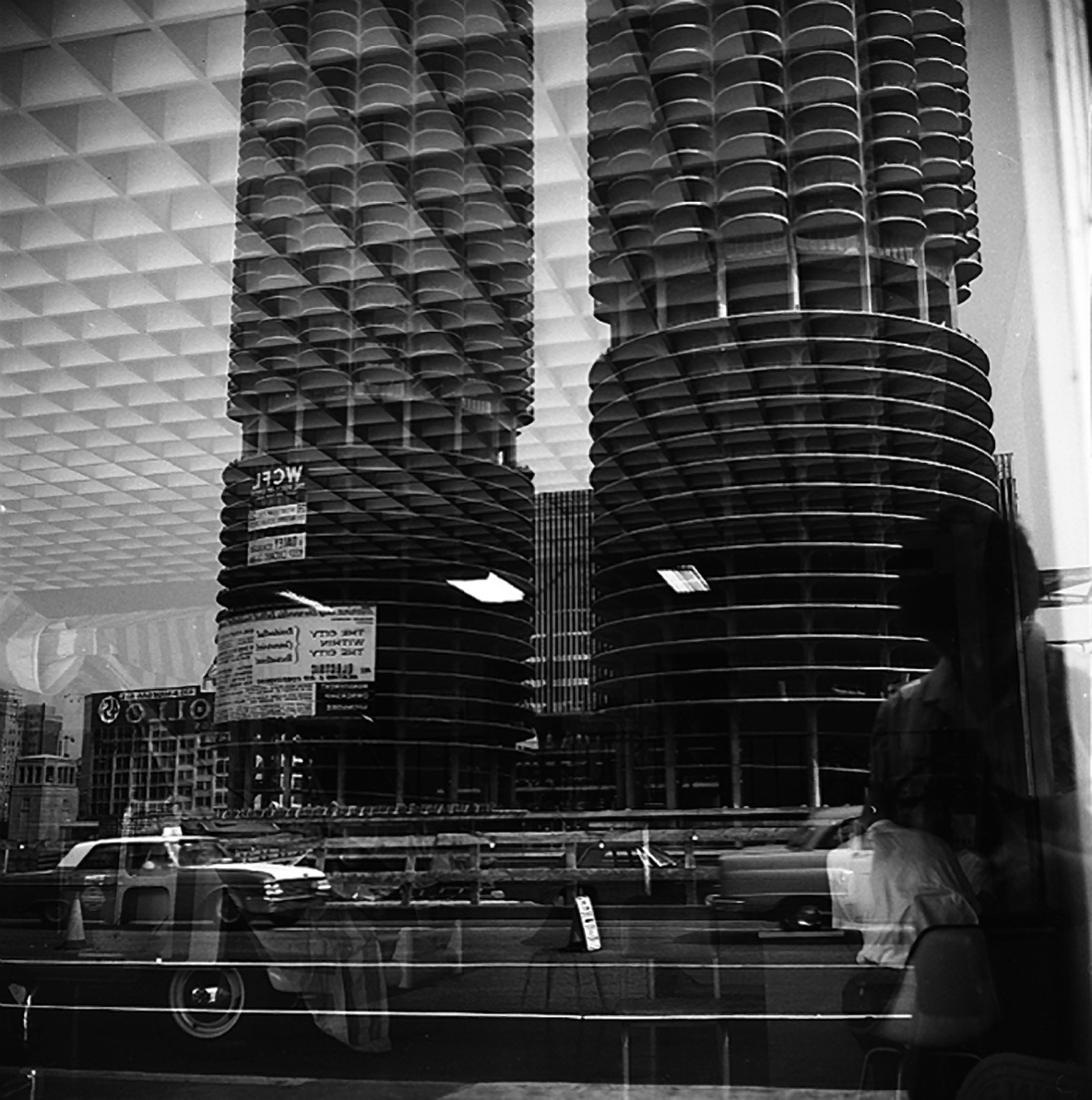 Vivian Maier, Self-portrait, Reflection, Marina City, Chicago, c. 1965