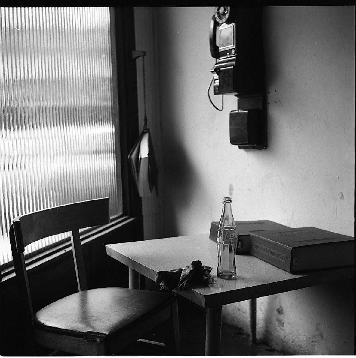 Vivian Maier, Interior with Telephone, Winnetka, IL, April 20, 1968